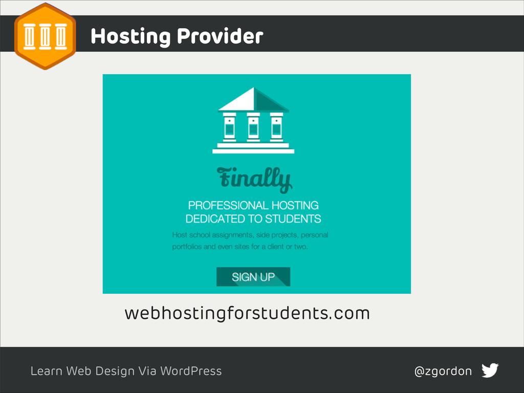 Learn Web Design Via WordPress @zgordon Hosting...