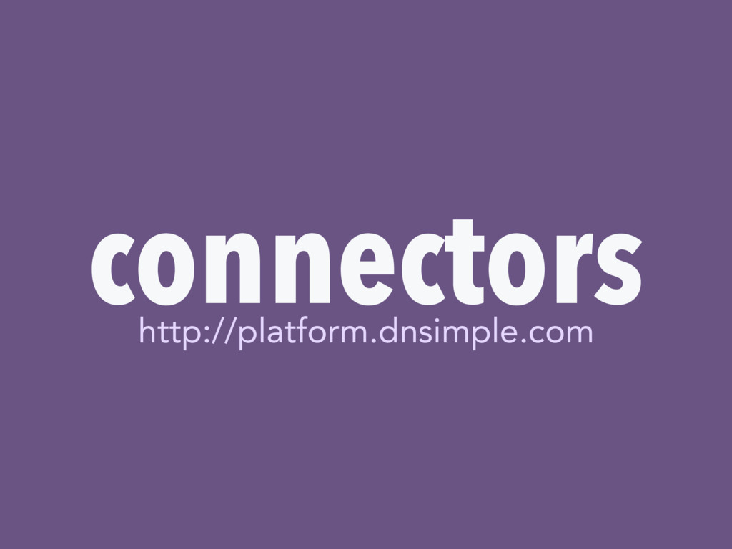 connectors http://platform.dnsimple.com