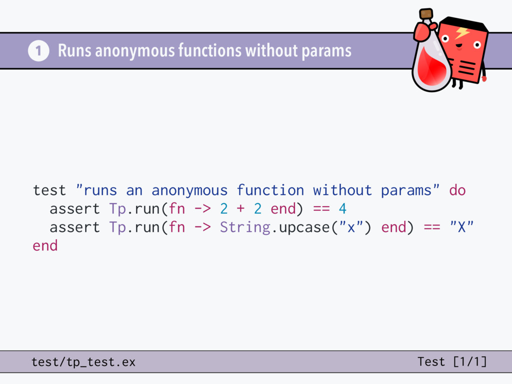 "Runs anonymous functions without params test ""r..."