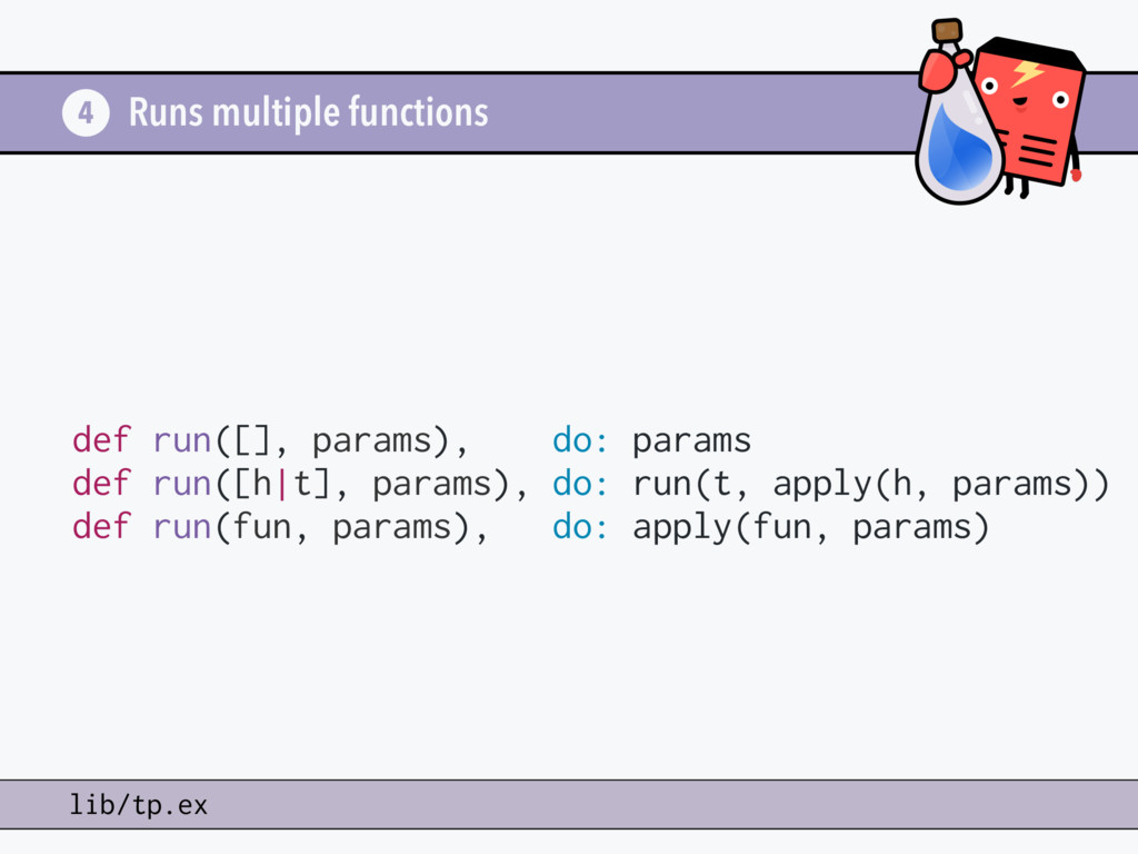 Runs multiple functions 4 lib/tp.ex def run([],...