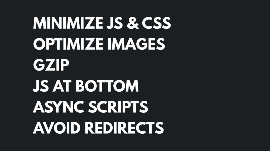 MINIMIZE JS & CSS OPTIMIZE IMAGES GZIP JS AT...
