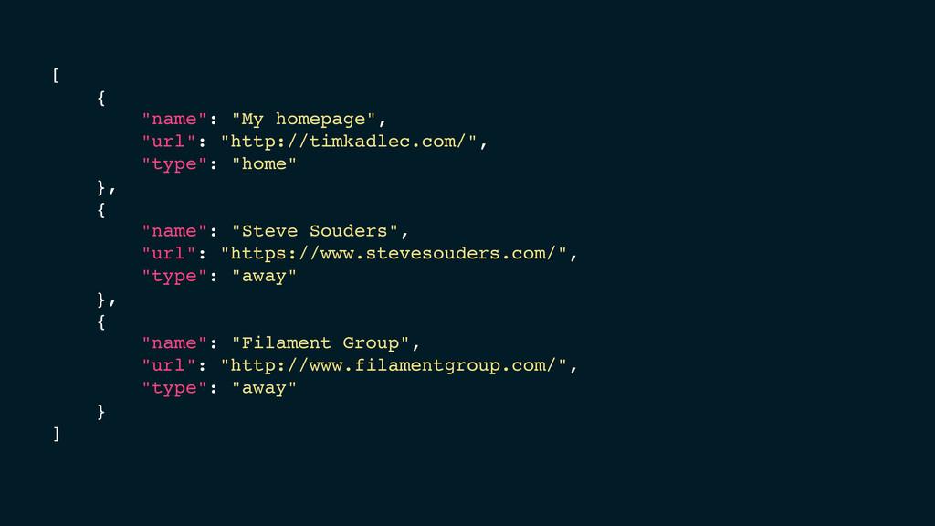 "[ { ""name"": ""My homepage"", ""url"": ""http://timka..."