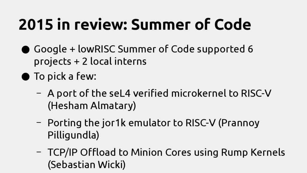 2015 in review: Summer of Code ● Google + lowRI...