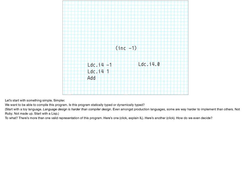 (inc -1) Ldc.i4 -1 Ldc.i4 1 Add Ldc.i4.0 Let's ...