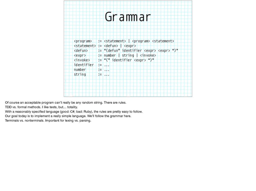 "Gra""#ar <program> := <statement> | <program> <s..."