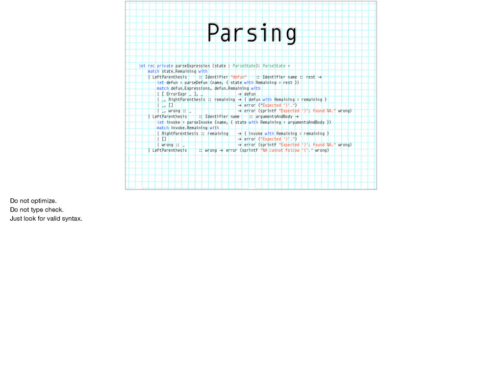 Parsing let rec private parseExpression (state ...
