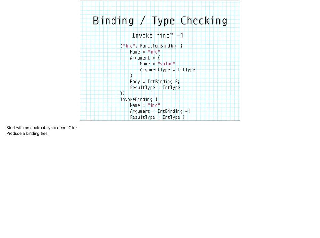 """(""""inc"""", Function Binding { Name = """"inc"""" Argumen..."""