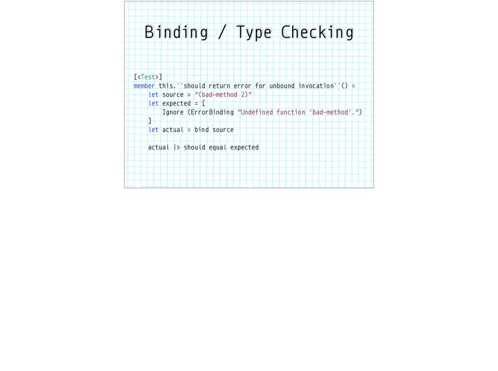 Binding / Type Checking [<Test>] member this.``...