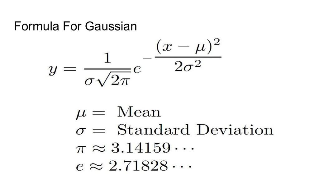 Formula For Gaussian