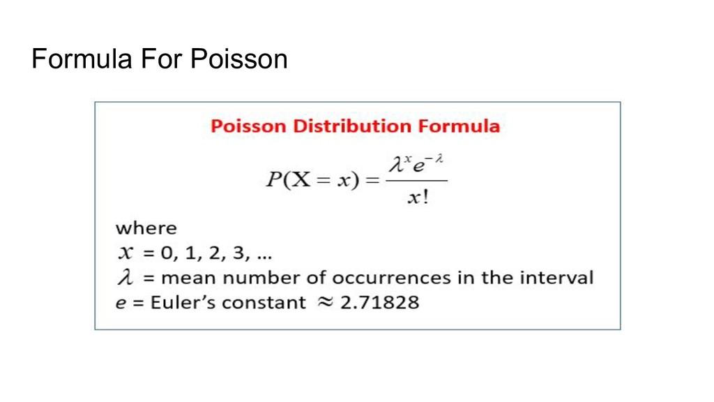 Formula For Poisson