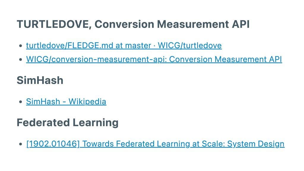 TURTLEDOVE, Conversion Measurement API turtledo...