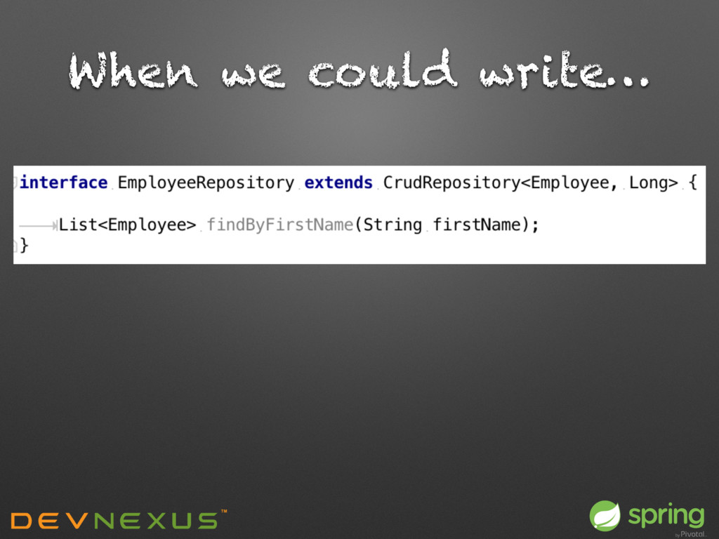 When we could write…