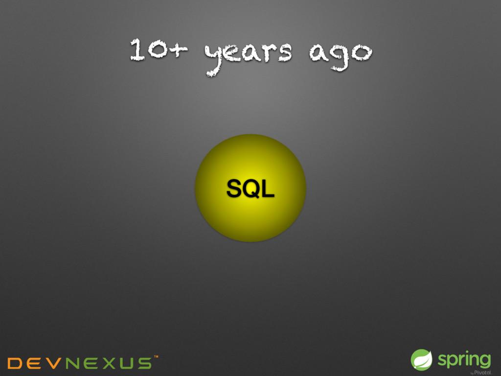 10+ years ago SQL