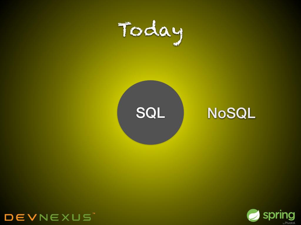 Today SQL NoSQL