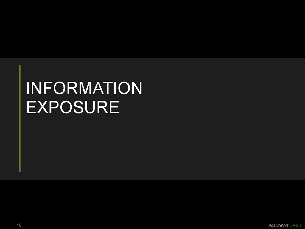INFORMATION EXPOSURE 18