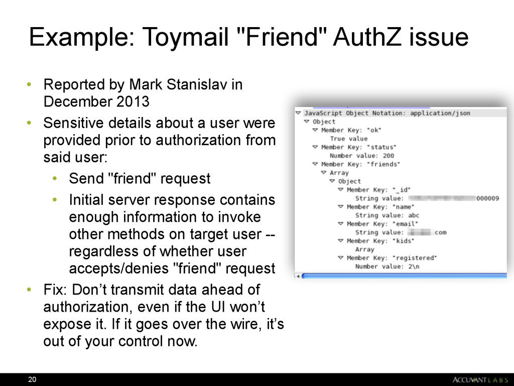 "Example: Toymail ""Friend"" AuthZ issue • Reporte..."