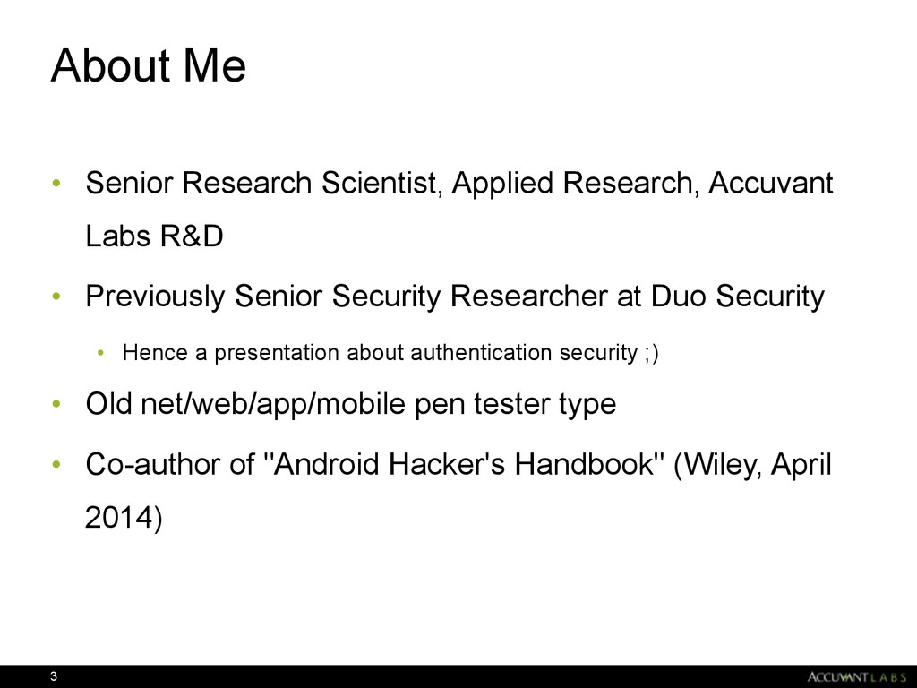 About Me • Senior Research Scientist, Applied R...