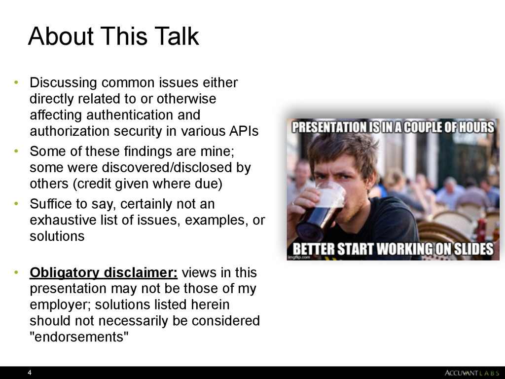 About This Talk • Discussing common issues eith...