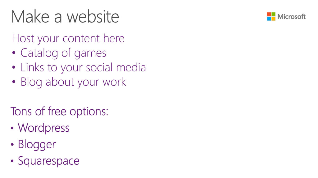 • • • Host your content here • Catalog of games...