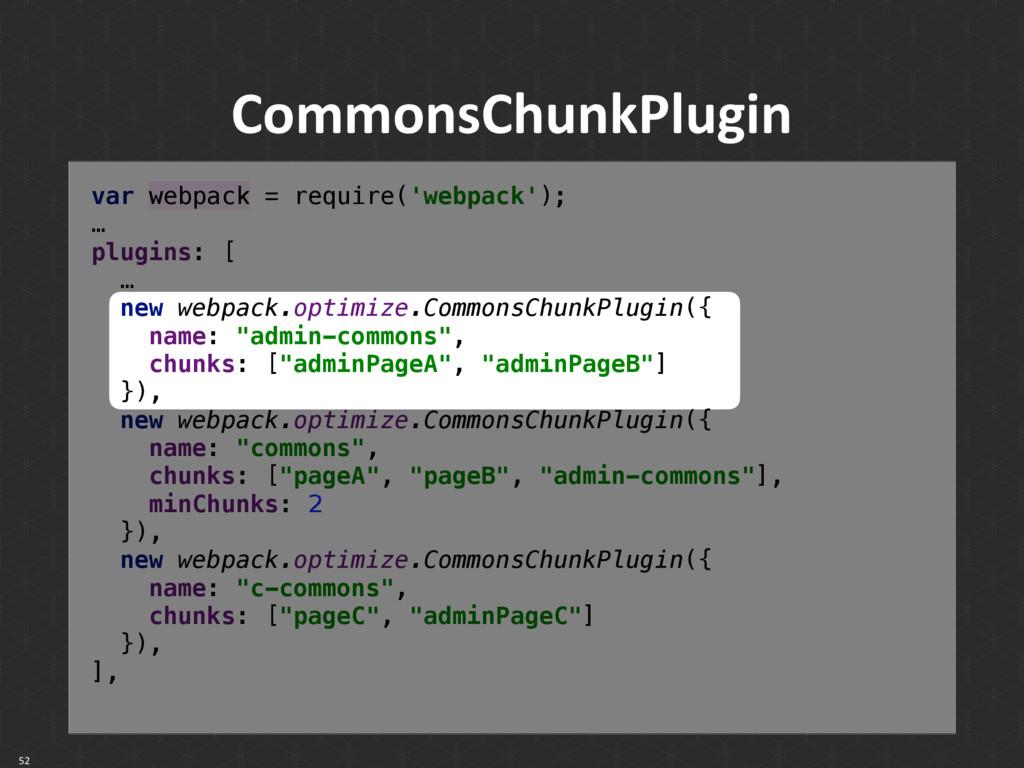 CommonsChunkPlugin 52 var webpack = require('we...