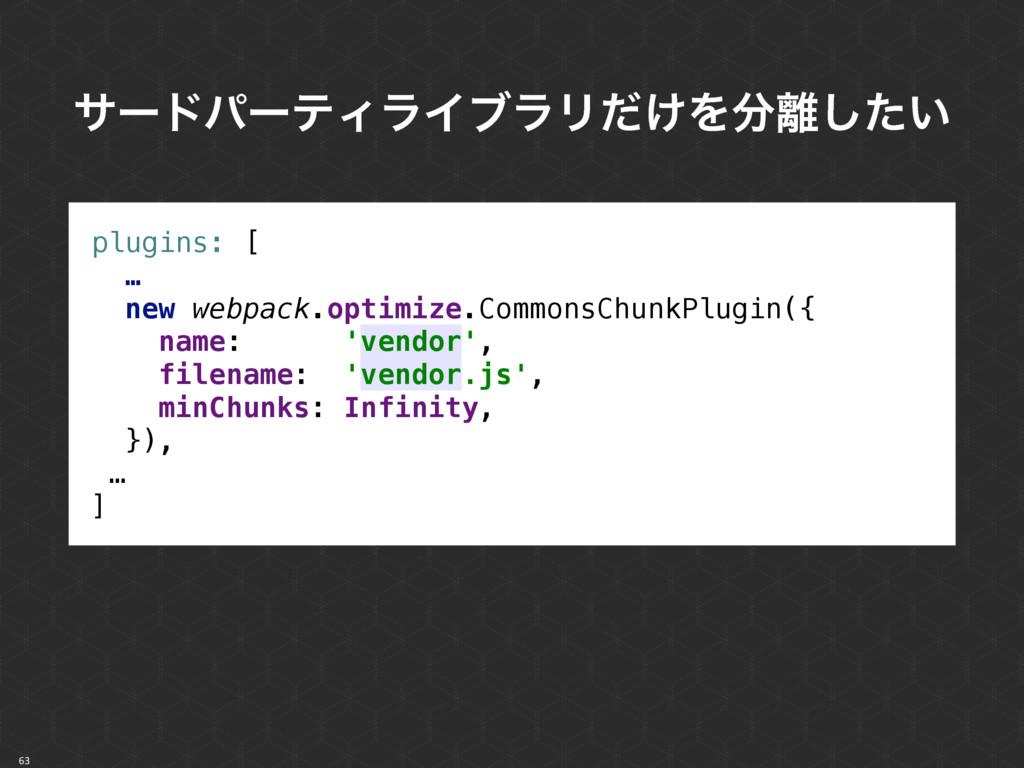 63 αʔυύʔςΟϥΠϒϥϦ͚ͩΛ͍ͨ͠ plugins: [ … new webp...