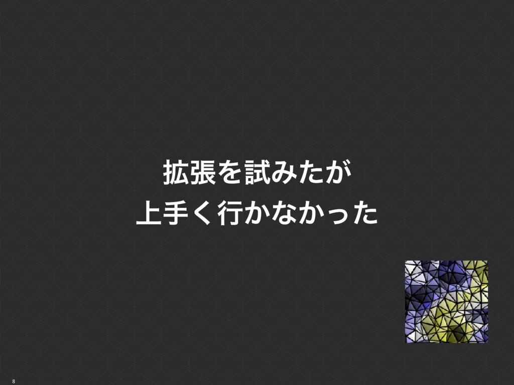 8 ֦ுΛࢼΈ͕ͨ ্ख͘ߦ͔ͳ͔ͬͨ