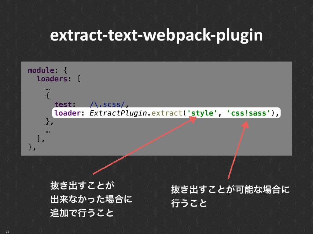 72 extract-text-webpack-plugin module: { loade...