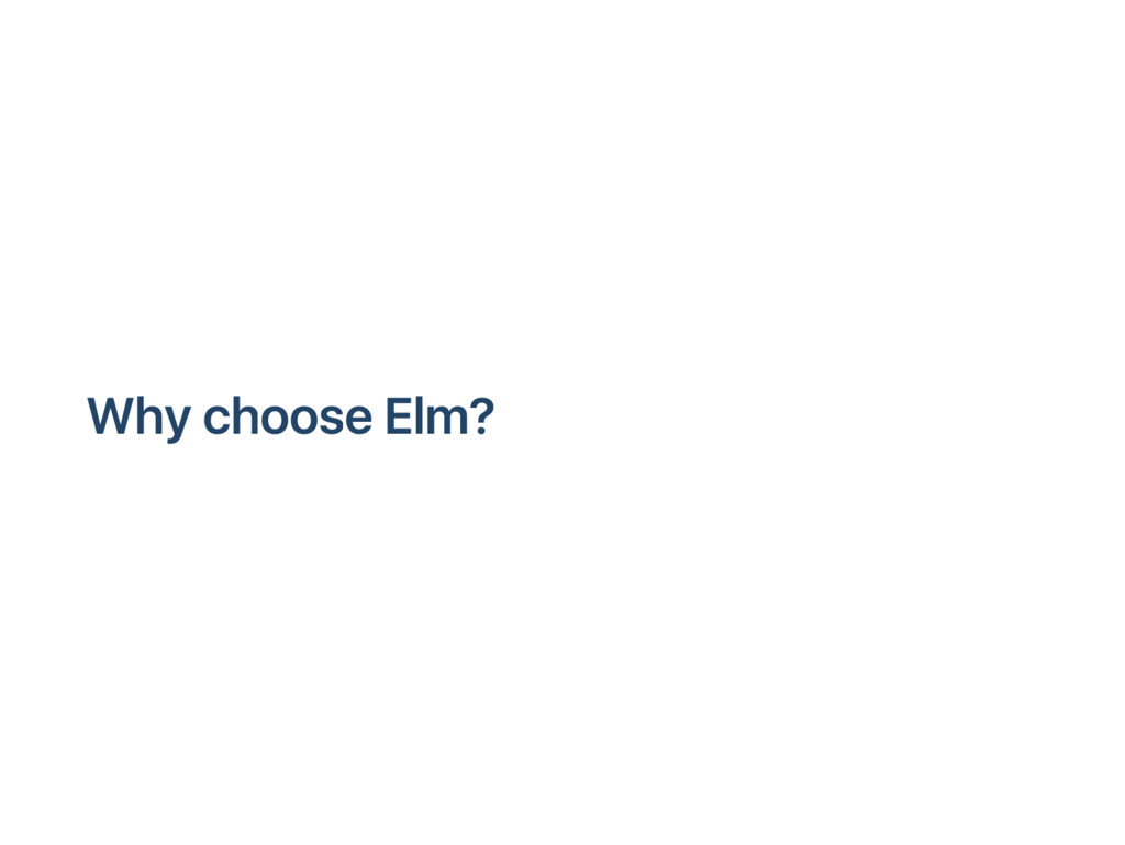 W hy choose E lm?