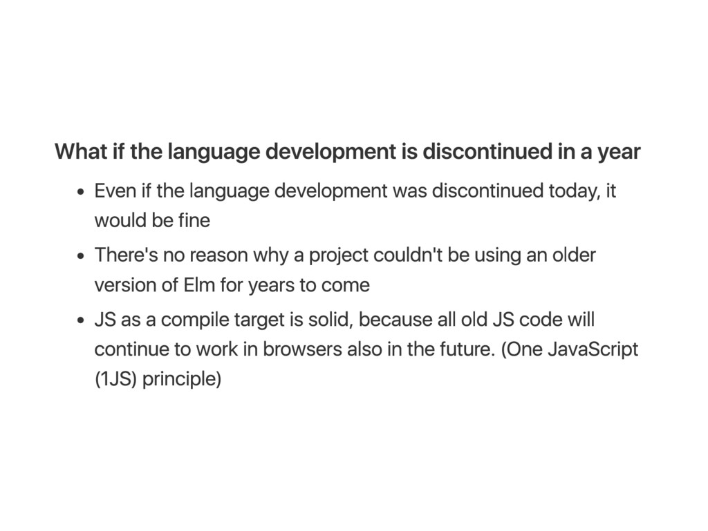 W hat if the language development is discontinu...