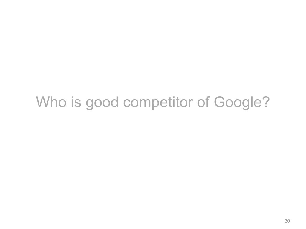 20 Who is good competitor of Google?