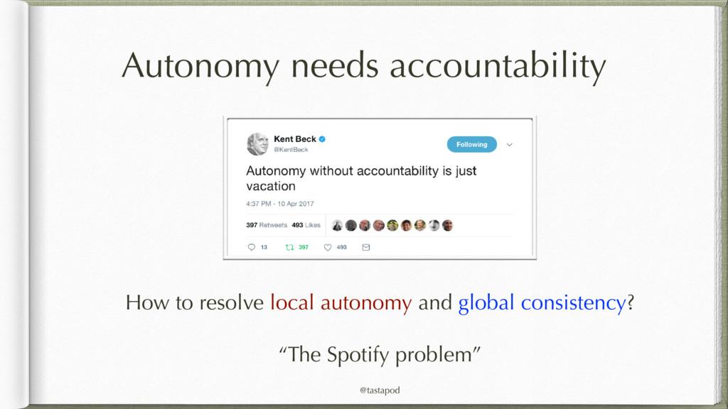 @tastapod Autonomy needs accountability How to ...
