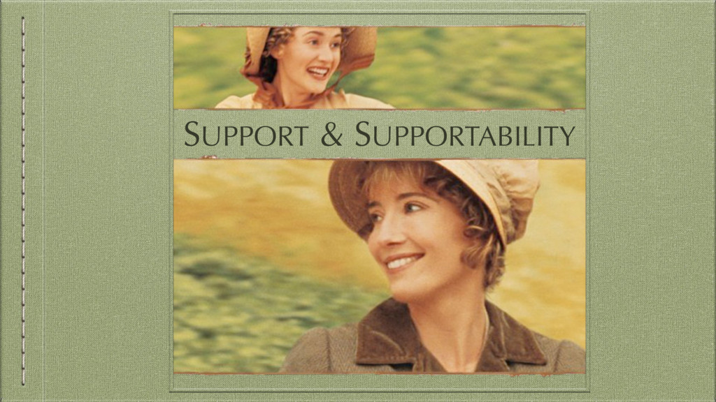 SUPPORT & SUPPORTABILITY