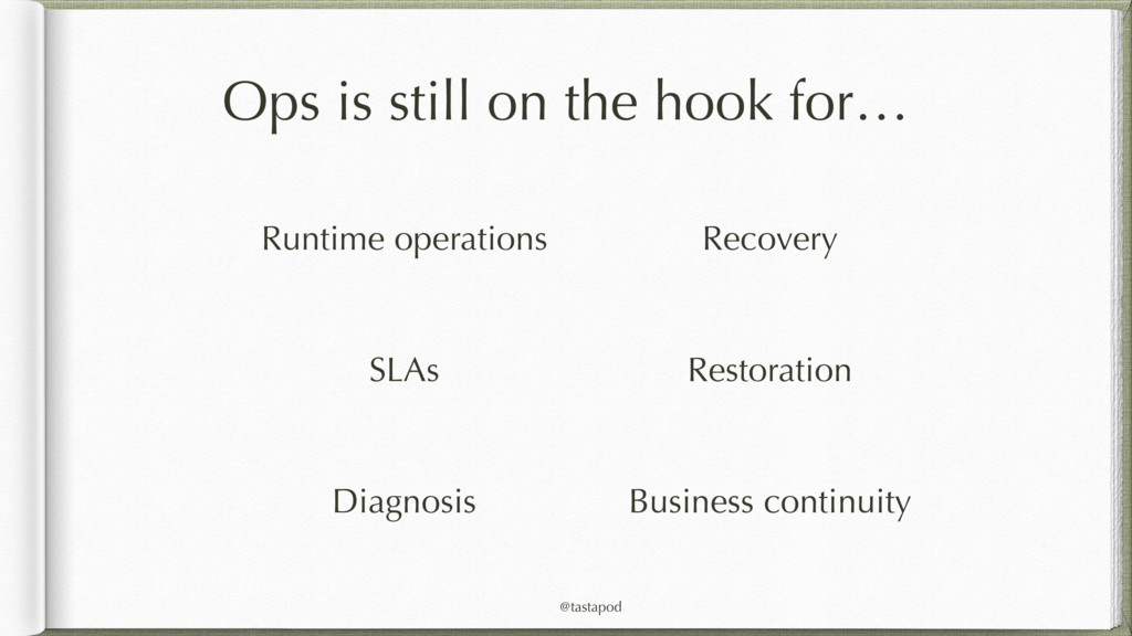 @tastapod Ops is still on the hook for… Runtime...