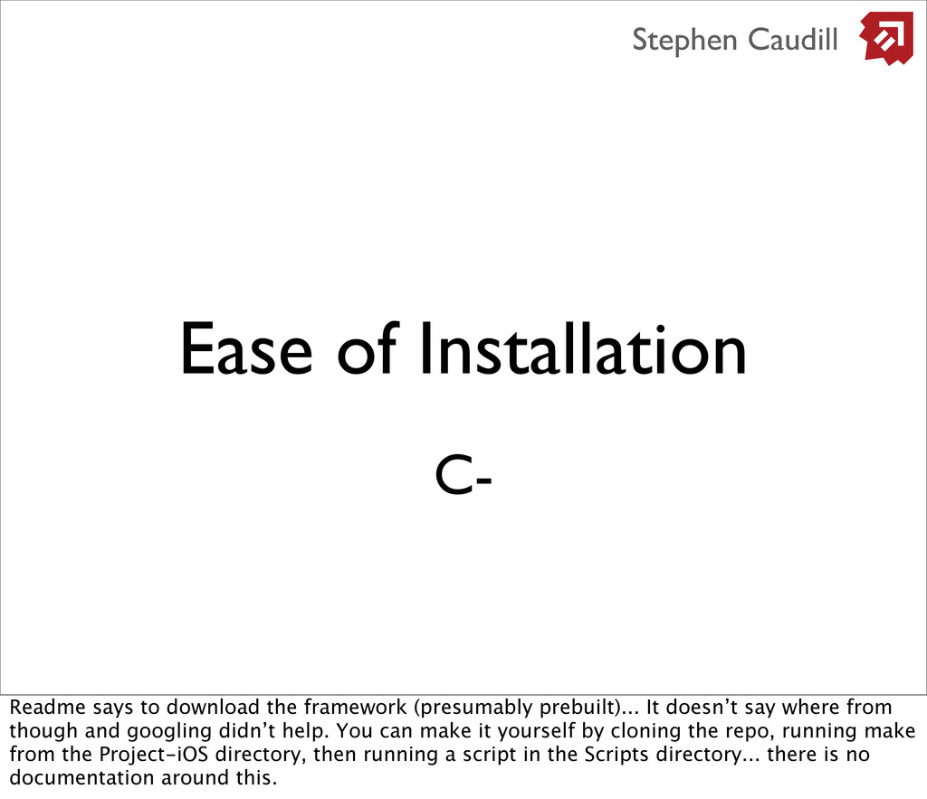 Ease of Installation Stephen Caudill C- Readme ...