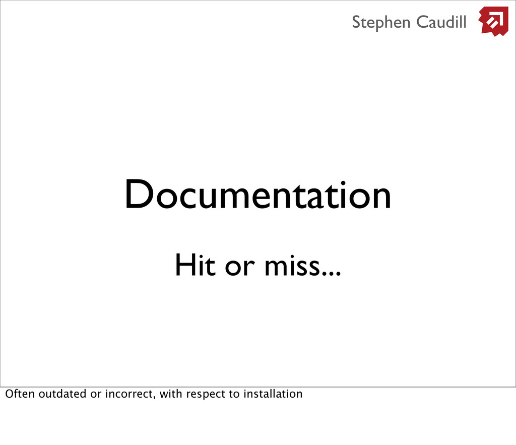 Documentation Stephen Caudill Hit or miss... Of...