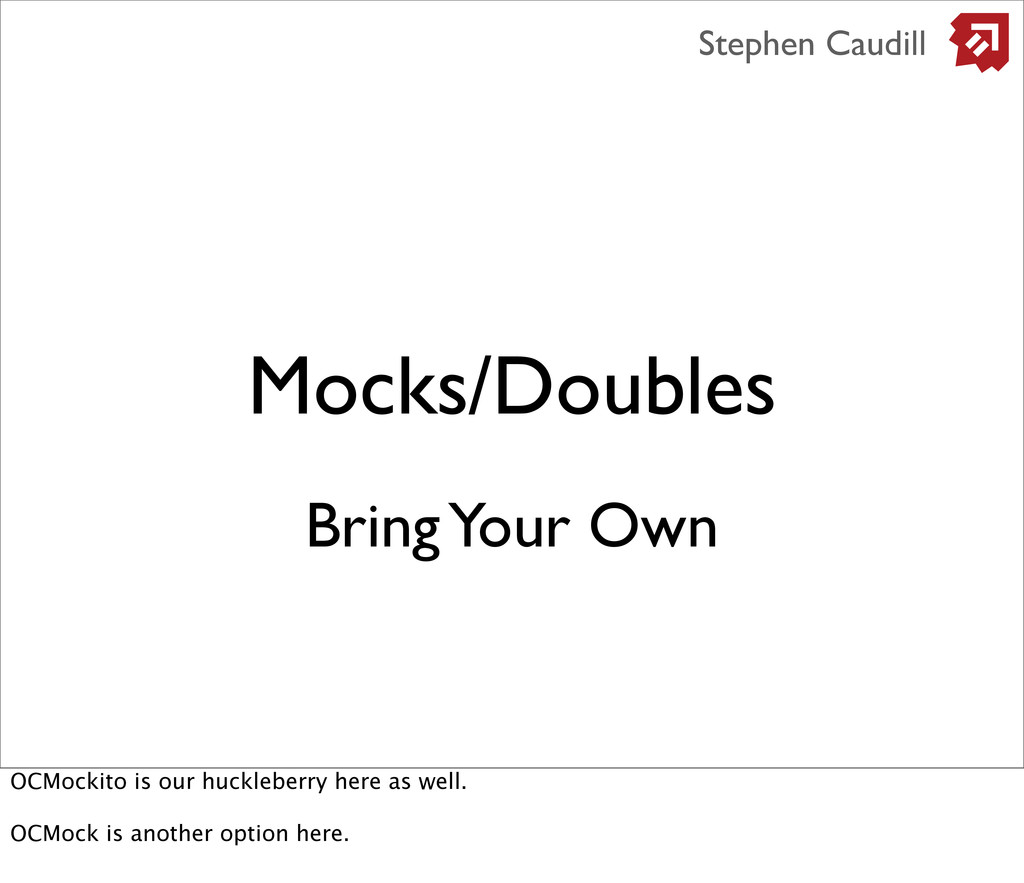 Mocks/Doubles Stephen Caudill Bring Your Own OC...