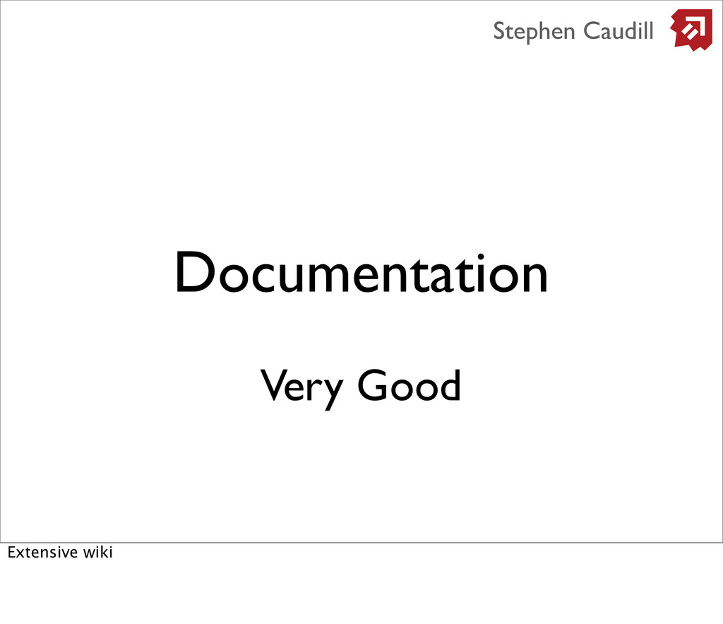Documentation Stephen Caudill Very Good Extensi...