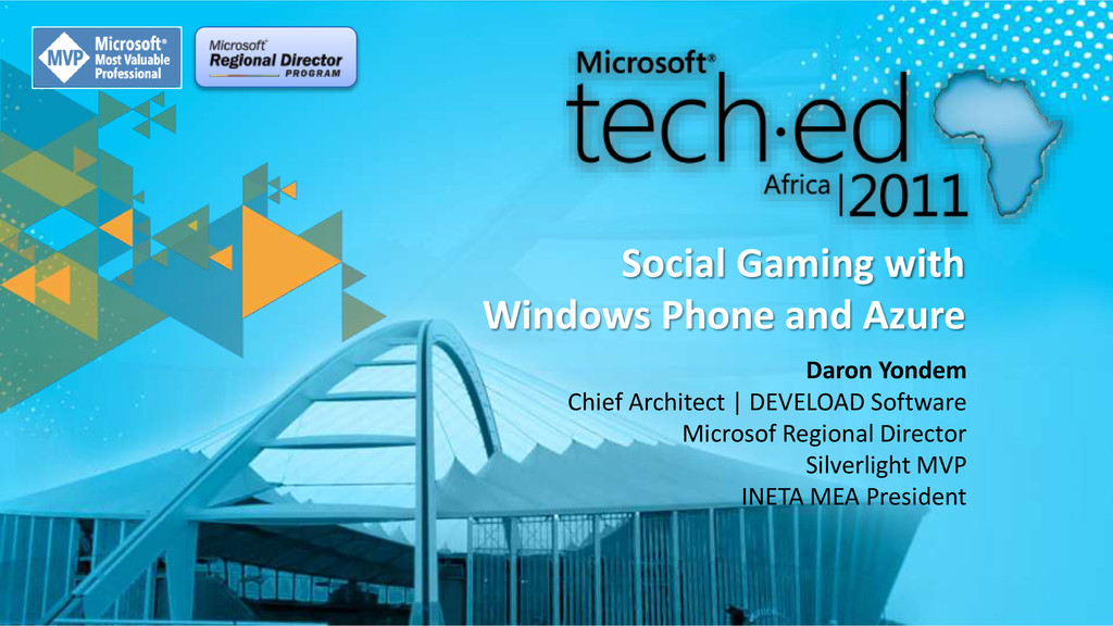 Social Gaming with Windows Phone and Azure Daro...