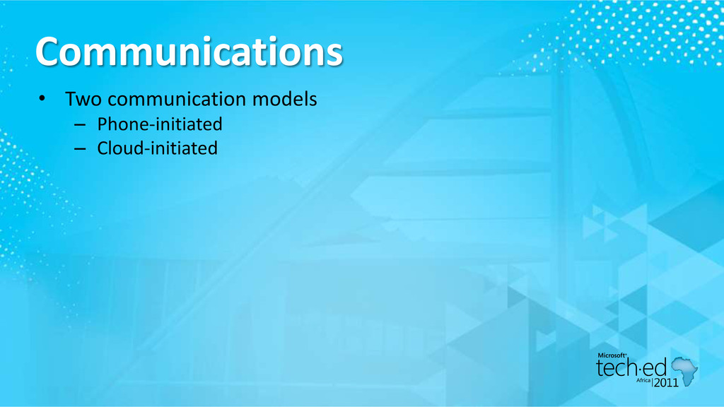 Communications • Two communication models – Pho...