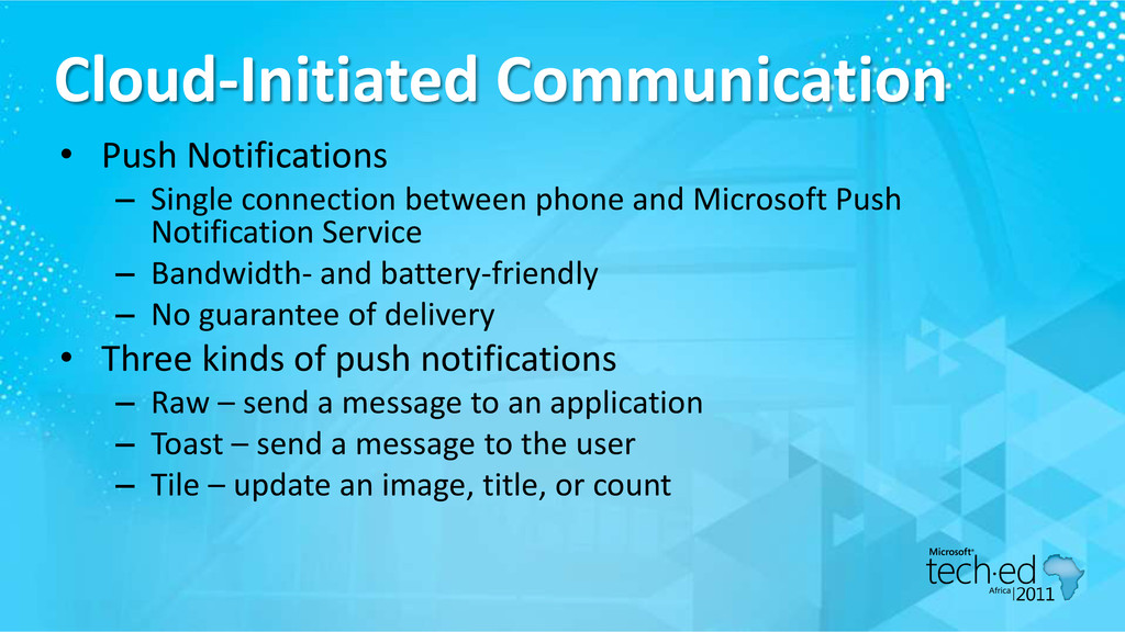 Cloud-Initiated Communication • Push Notificati...