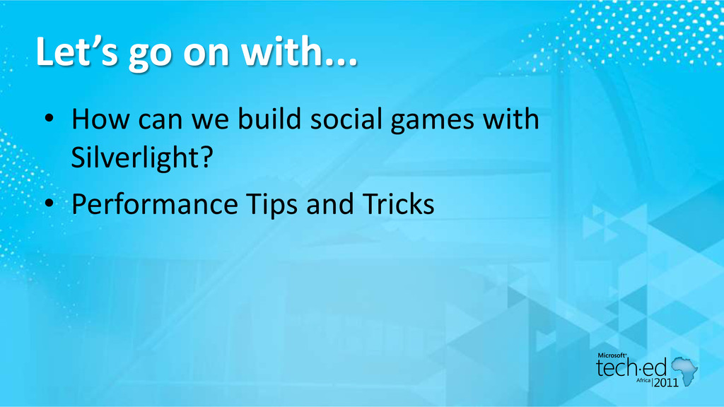 Let's go on with... • How can we build social g...