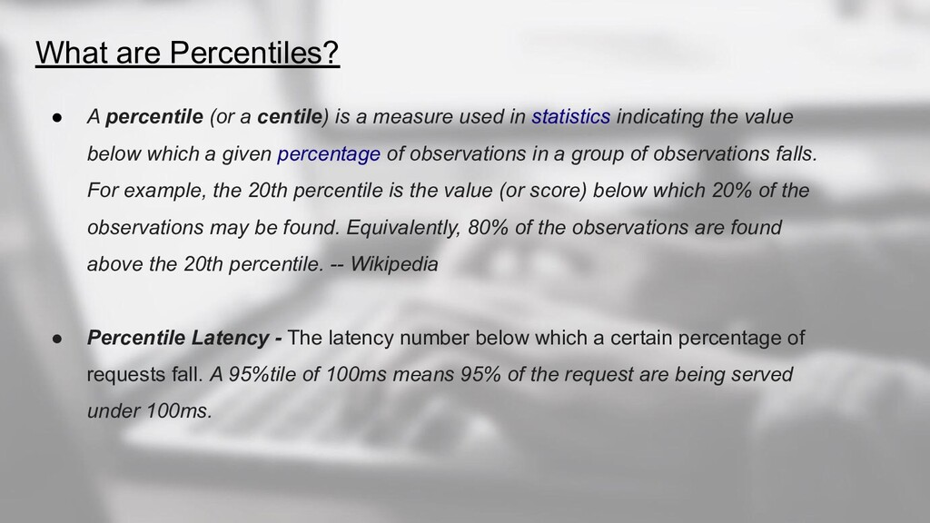 What are Percentiles? ● A percentile (or a cent...