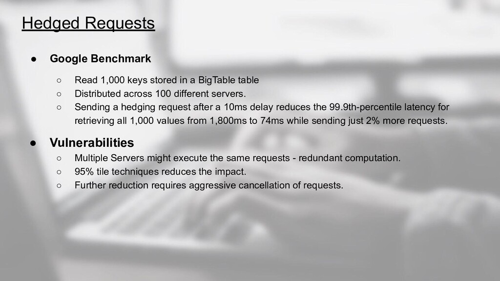 ● Google Benchmark ○ Read 1,000 keys stored in ...