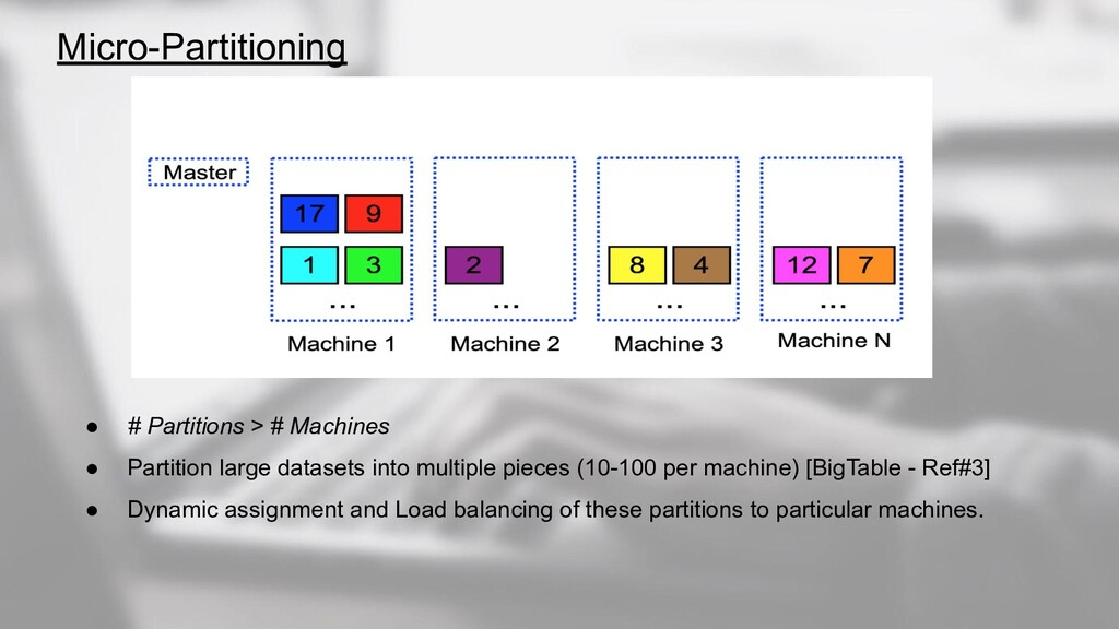 Micro-Partitioning ● # Partitions > # Machines ...