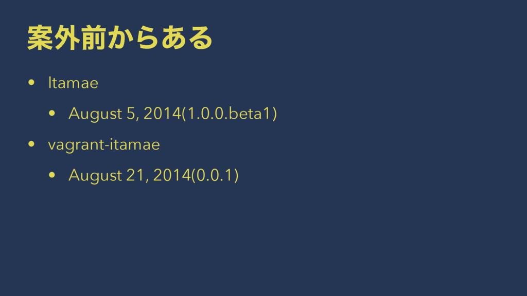 Ҋ֎લ͔Β͋Δ • Itamae • August 5, 2014(1.0.0.beta1) ...