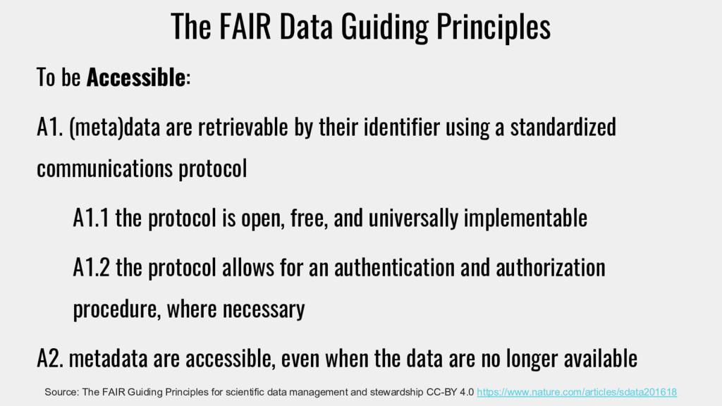 The FAIR Data Guiding Principles To be Accessib...