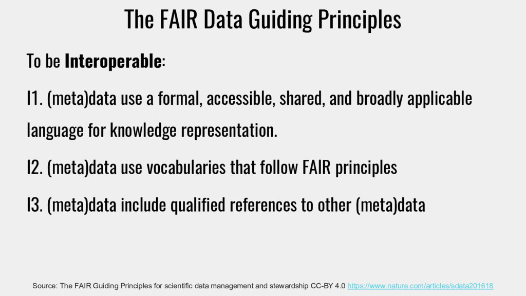 The FAIR Data Guiding Principles To be Interope...