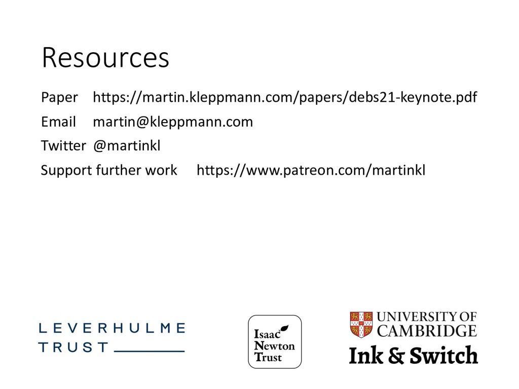 Resources Paper https://martin.kleppmann.com/pa...