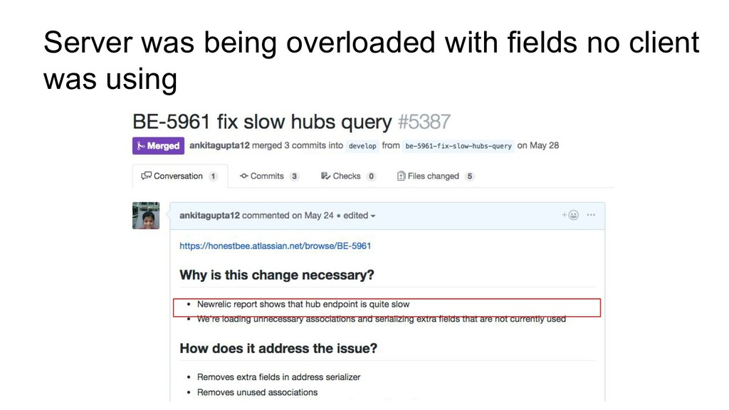 Server was being overloaded with fields no clie...