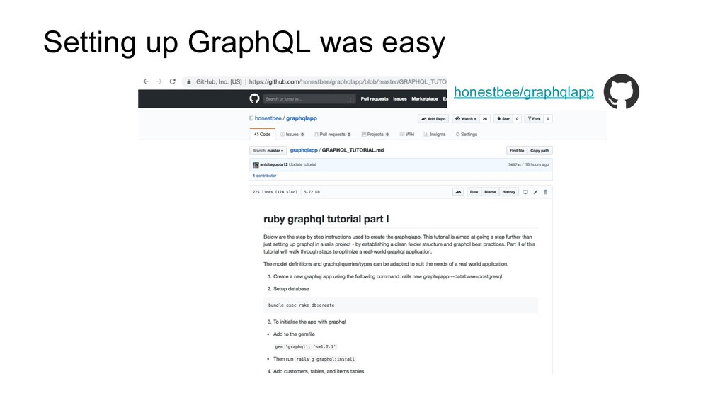 Setting up GraphQL was easy honestbee/graphqlapp